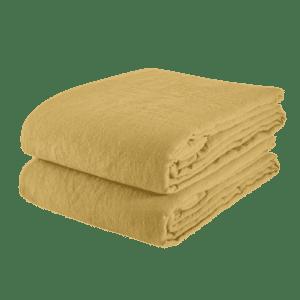 Linge particulier nappe ocre 140x250cm