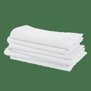 Linge particulier serviette de table blanc 45x45cm