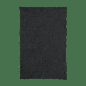 Linge particulier tapis de bain noir 50x80cm