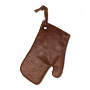 Dutch deluxes ovenglove marron cuir vintage